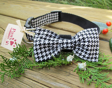 Houndstooth Dapper Dog Bow-tie Collars