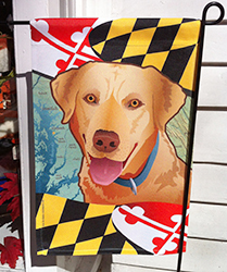 Maryland Dog Flag with Yellow Lab